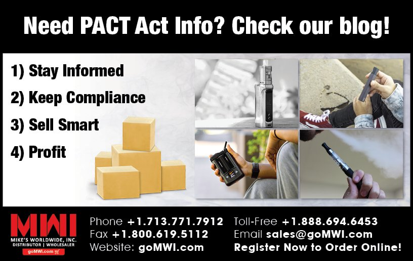 Read more about the article The PACT Act Amendment And Online Vaping Sales